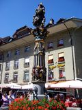 Fontaine dans la vieille ville de Berne, Suisse Photographie stock libre de droits