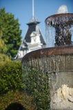 Fontaine dans le jardin Photo libre de droits