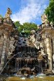 Fontaine dans le musée Dresde, Allemagne de Zwinger Image libre de droits