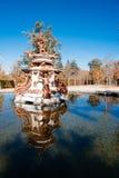 Fontaine dans le palais de Granja, Espagne Photos stock