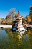 Fontaine dans le palais de Granja, Espagne Photo libre de droits