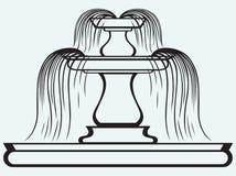 Fontaine dans le style de la Renaissance illustration libre de droits