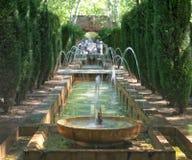 Fontaine dans les jardins de Hort del Rei Photographie stock
