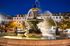 Fontaine dans Rossio, Lisbonne, Portugal Image libre de droits