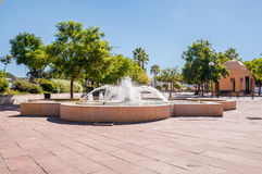 Fontaine dans Silves Image stock