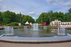 Fontaine dans Sokolniki images libres de droits