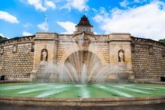 Fontaine dans Szczecin Photographie stock libre de droits