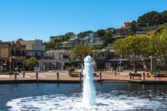 Fontaine dans Tiburon, la Californie Photos libres de droits