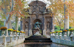 Fontaine de德梅迪西斯,卢森堡公园,巴黎 免版税图库摄影