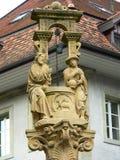 Fontaine de Ла Samaritaine, Fribourg (Suisse) Стоковые Фотографии RF