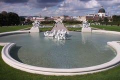 Fontaine de belvédère image stock