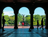 Fontaine de Bethesda, passage inférieur, ange, Central Park, poumon vert, terrasse, New York City Image libre de droits