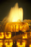 Fontaine de Buckingham en Grant Park la nuit, Chicago, l'Illinois Images libres de droits