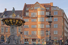 Fontaine de Caritas, Copenhague Image libre de droits