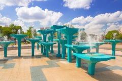 Fontaine de centre de la ville à Gdynia Images libres de droits