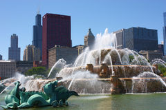 Fontaine de Chicago Buckingham Photographie stock libre de droits