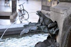 Fontaine de cigogne, Copenhague, Danemark Photos stock