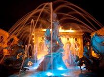 Fontaine de Diana, Ortigia, Sicile - nuit photo libre de droits