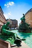 Fontaine de Donnerbrunnen à Vienne image stock