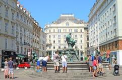 Fontaine de Donnerbrunnen à Vienne, Autriche. Photos libres de droits