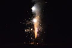 Fontaine de feux d'artifice Photo stock