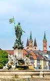 Fontaine de Franconia à la résidence de Wurtzbourg en Allemagne photos libres de droits