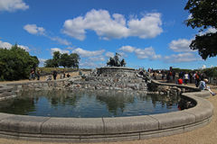 Fontaine de Gefion à Copenhague, Danemark Photographie stock libre de droits