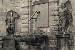 Fontaine de jardins de Powerscourt Images libres de droits