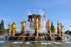 Fontaine de l'amitié des nations, Moscou, Russie Photos libres de droits