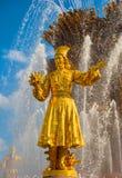 Fontaine de l'amitié des peuples à VDNH à Moscou Photo libre de droits