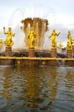 Fontaine de l'amitié des peuples, Moscou, Russie Images stock