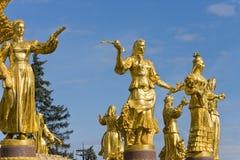 Fontaine de l'amitié des peuples, Vdnh (maintenant Vvc), Photographie stock libre de droits