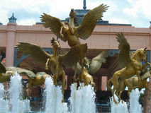 Fontaine de l'Atlantide Image libre de droits