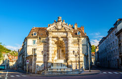Fontaine de la place Jean-Cornet in Besancon. France stock photography