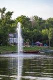 Fontaine de la rivière photographie stock libre de droits