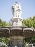 Fontaine de la Rotonde, Aix-en-Provence. The Fontaine de la Rotonde is a historic fountain in Aix-en-Provence. It was built in 1860 by Théophile de Tournadre stock photo