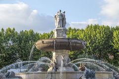 The Fontaine de la Rotonde fountain Royalty Free Stock Images