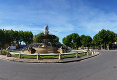 The Fontaine de la Rotonde - Panoramic View Stock Images