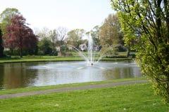 Fontaine de lac Image stock
