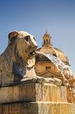 Fontaine de lion Image libre de droits