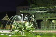 Fontaine de lotus Photos libres de droits