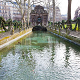 Medici Fountain in luxembourg garden in Paris Royalty Free Stock Photo