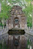 Fontaine de Medicis, Jardin du Luxembourg, Paris. The Fontaine de Medicis is a very peaceful place in the gardens of Luxembourg stock photos