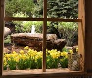 Fontaine de négligence de fenêtre Image stock