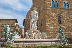 Fontaine de Neptune à Florence images libres de droits