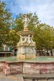 Fontaine de Neptune à Carcassone Image libre de droits