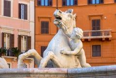 Fontaine de Neptune dans Piazza Navona, Rome Images stock