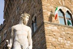 Fontaine de Neptune, Florence, Italie Photographie stock