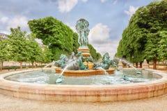 Fontaine de Observatoir near Luxembourg Garden in Paris. stock photography