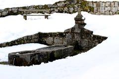 Fontaine de paix dans Contrada Valle Tonezza Photo libre de droits